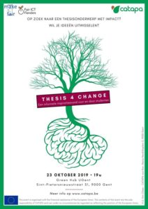 Thesis 4 Change - Inspiratieavond met Catapa @ Green Office Gent