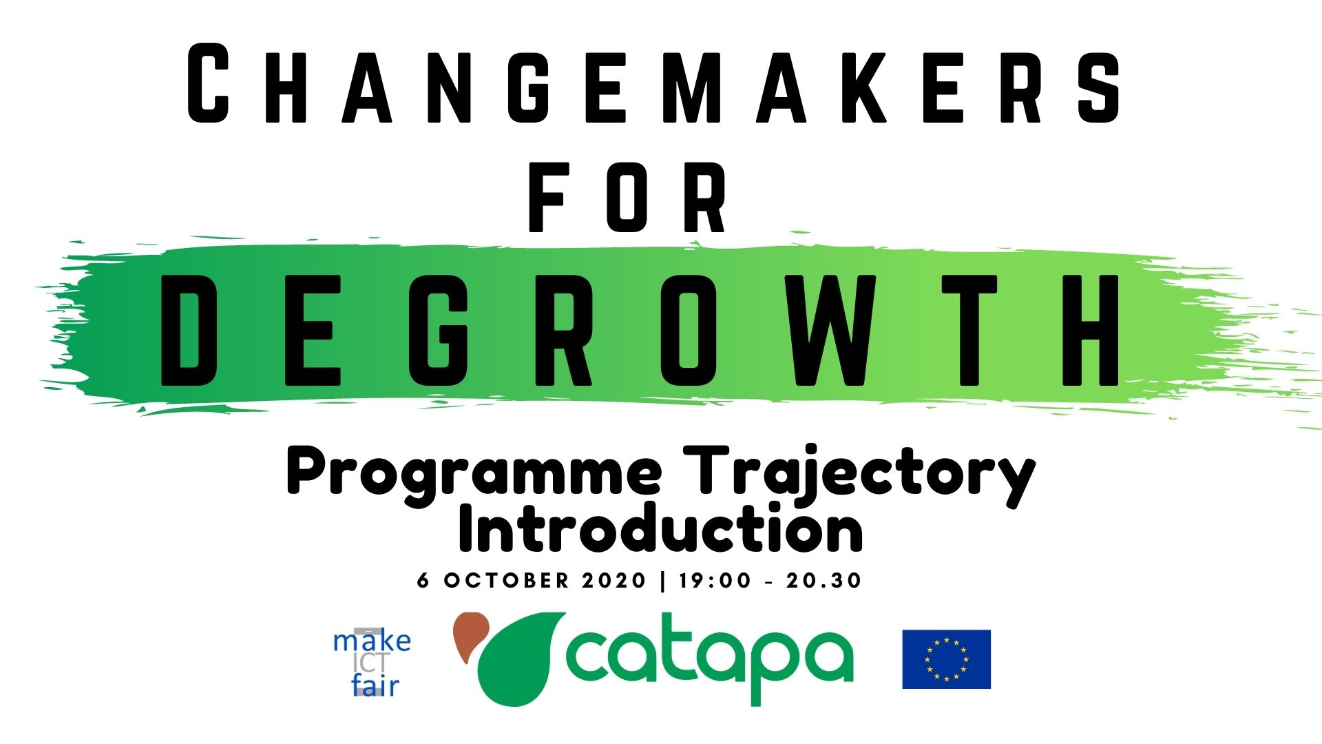 Changemakers for Degrowth Logo.