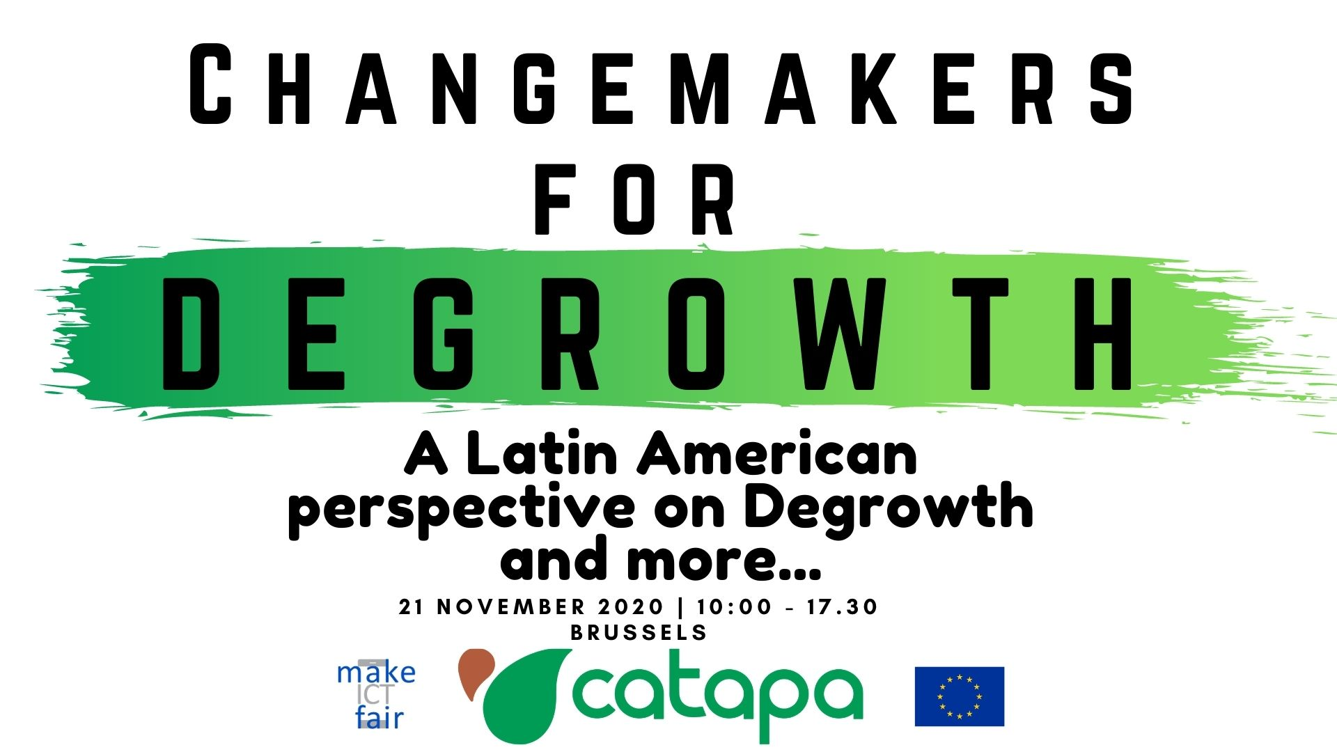 Green Changemakers for Degrowth logo.
